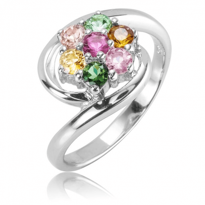 Tourmaline Flower on a Silver Sea