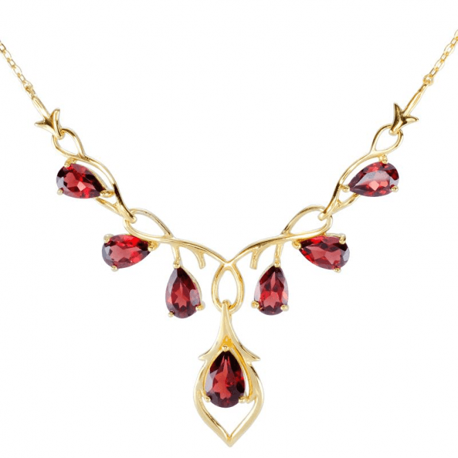 Ladies Shipton and Co 9ct Yellow Gold and Garnet Necklace NYG082GR