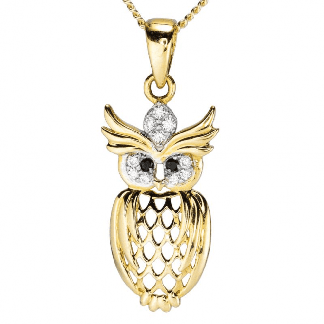 9ct Gold Owl Represents Prophets & Old Souls