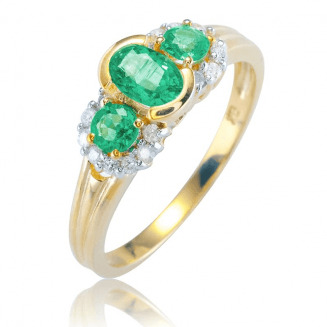 Ladies Shipton and Co 9ct Yellow Gold and Emerald Ring RYD161EMD