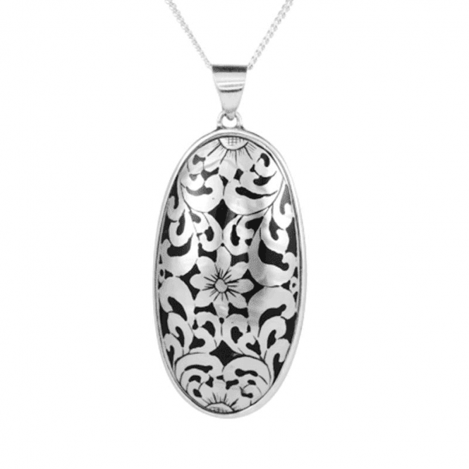 Classically Etched Nautilus Shell Pendant