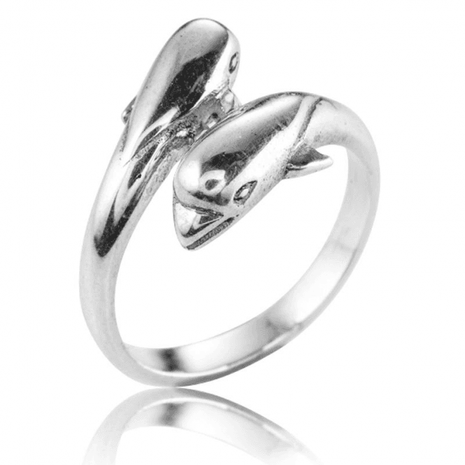 Silver Dolphin Dream Ring