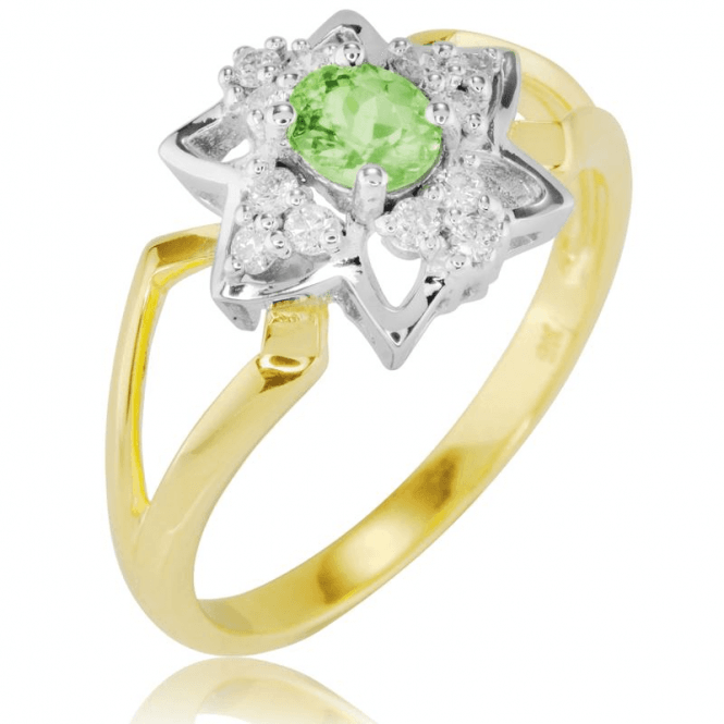 Resonant Design of Demantoid Garnet & Diamonds
