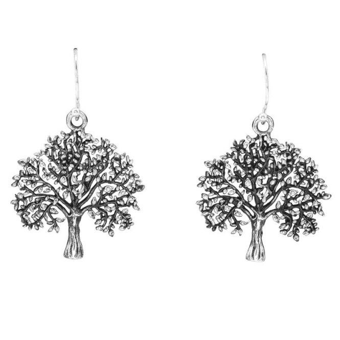 Ladies Shipton and Co Silver Tree of Life Earrings TSS273NS