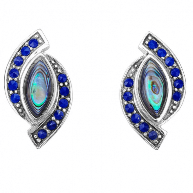 Art Deco Splendour in Paua Shell & Lapis Lazuli