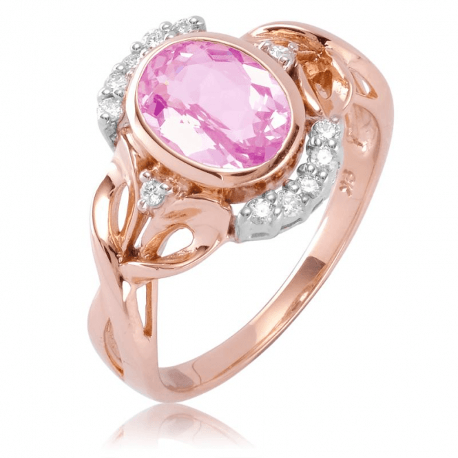 Ladies Shipton and Co 9ct Rose Gold and Morganite Ring RRD168MOD
