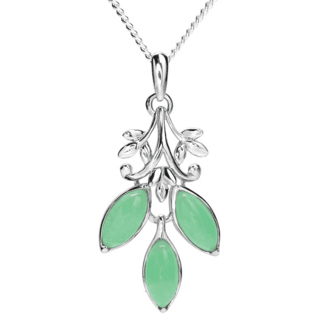 Ladies Shipton and Co Silver and Jade Pendant PQA627JJ