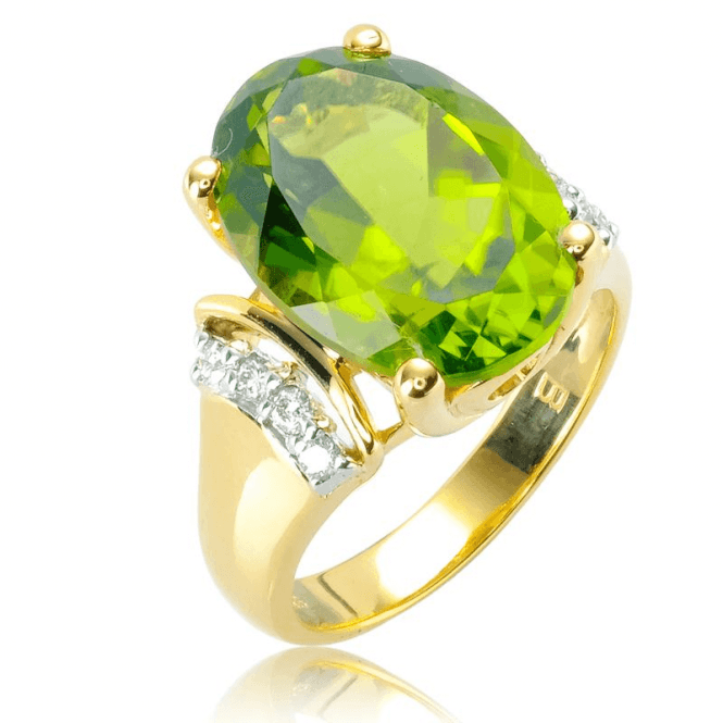 Ladies Shipton and Co 9ct Yellow Gold Diamond and Peridot Ring RYD165PED