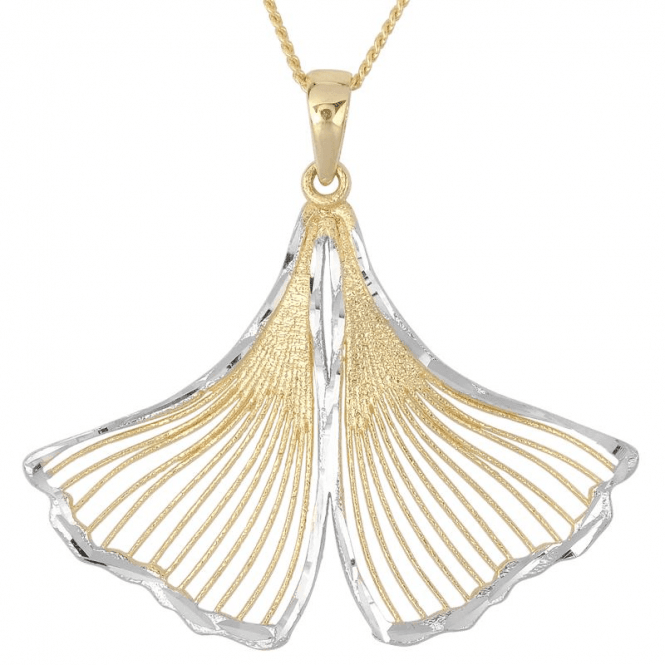 Mermaid Pendant in 9ct Yellow and White Gold
