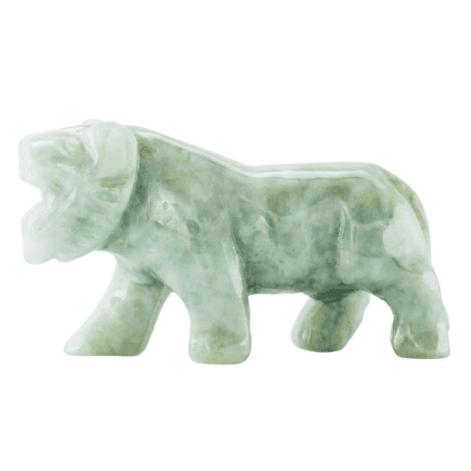 Ladies Shipton and Co Green Jade Tiger Carving CVL008GJ