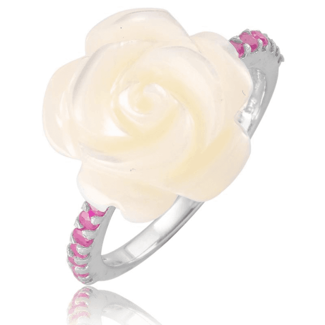 Ladies Shipton and Co Silver and Mother of Pearl Ring TSV091PMRU