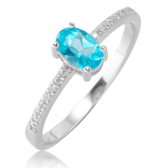 Ladies Shipton and Co Silver and Apatite Ring TFE319APWT