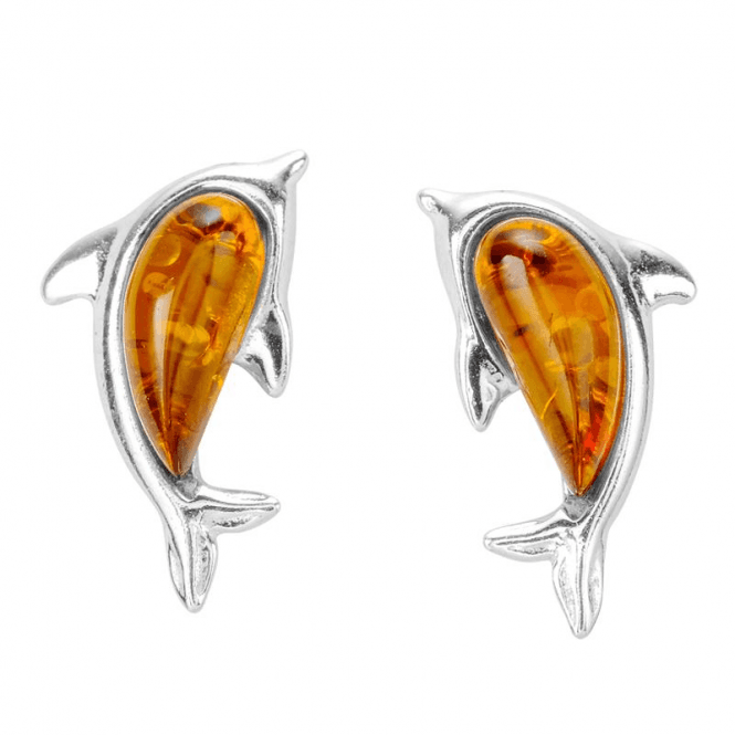 Ladies Shipton and Co Silver and Amber Earrings TFE320AB