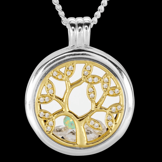 Ladies Shipton and Co Silver and Opal Pendant TFE305OPCZ