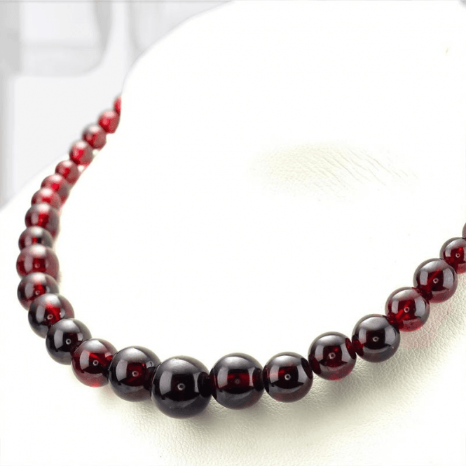 Ladies Shipton and Co Silver and Garnet Beads BFE081GR