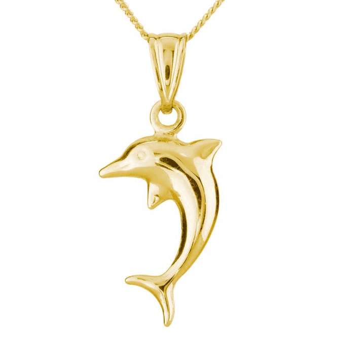 Dolphin Pendant Pure Flirtation in Solid 9ct Gold
