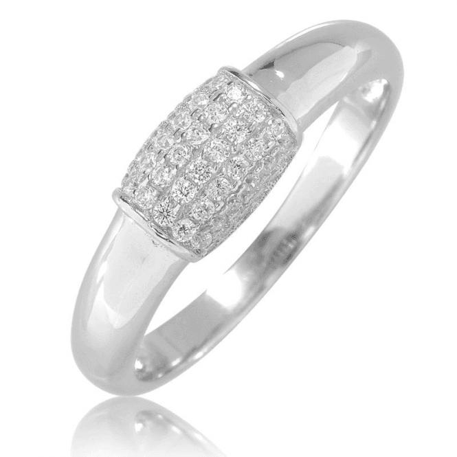 Diamond-Bright Silver Barrel Ring Only £25