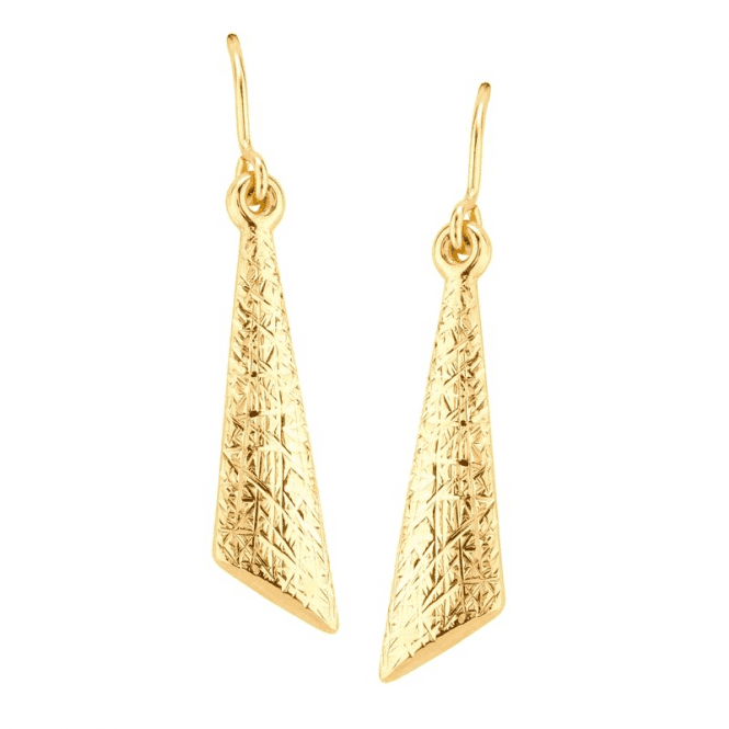 Kite Earrings in Textured 9ct Gold