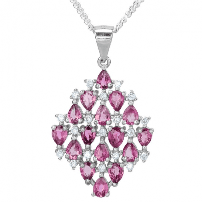 Kite Pendant with 2¾cts of Pink Tourmaline Scintillation
