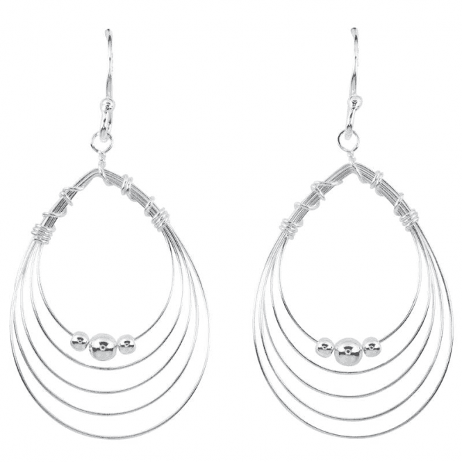 Glistening Silver Hoops