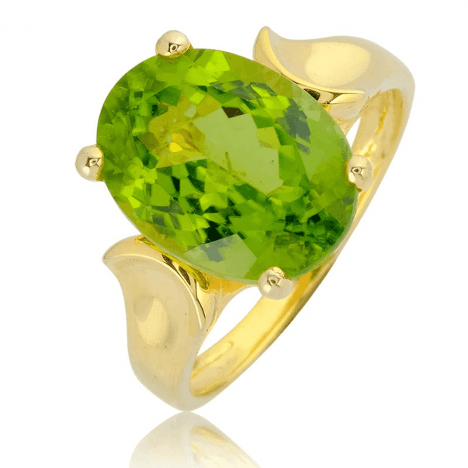 Supreme Quality 5ct Himalayan Peridot in 9ct Gold