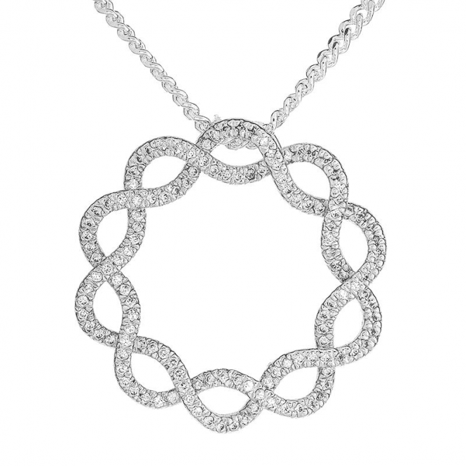 Infinity Circle Pendant in Sparkling Sterling Silver