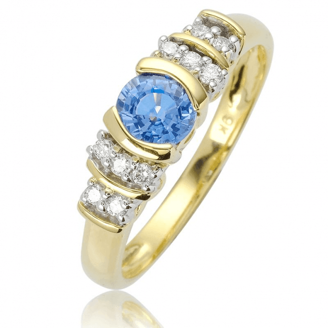 Diamond Setting for 0.6cts of Coveted Cornflower Blue Ceylon Sapphire