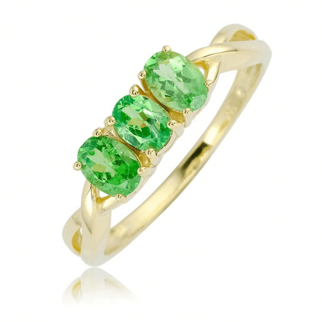 Tsavorite Brilliance in Dazzling Triplicate