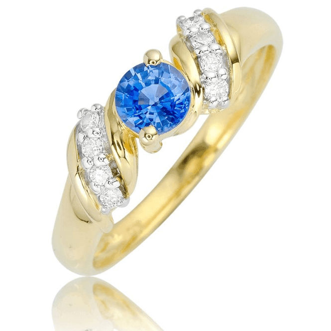 Ceylon Sapphire in a Gold & Diamond Setting