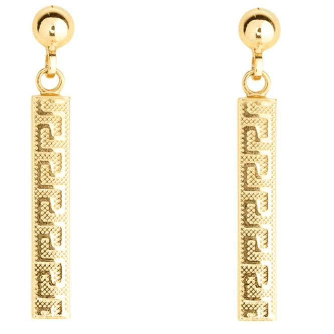 Greek Key Inspiration in Yellow or Rose 9ct Gold