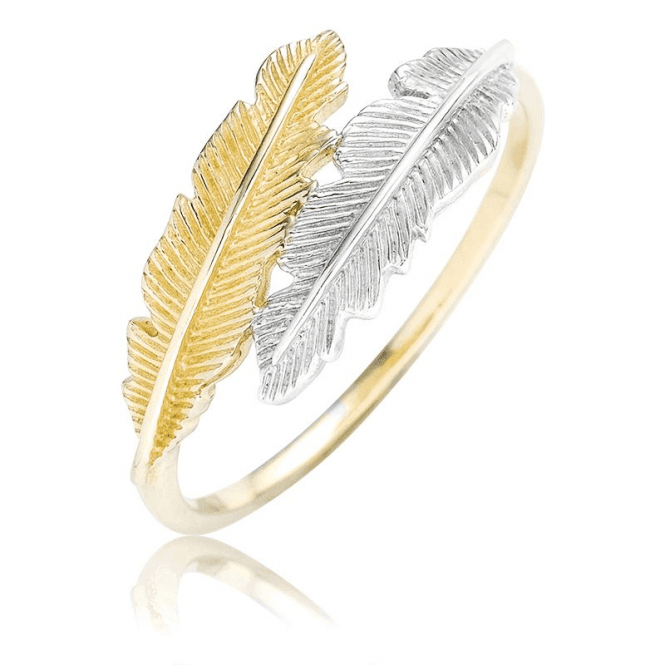 Feather Ring in 9ct Tonal Gold