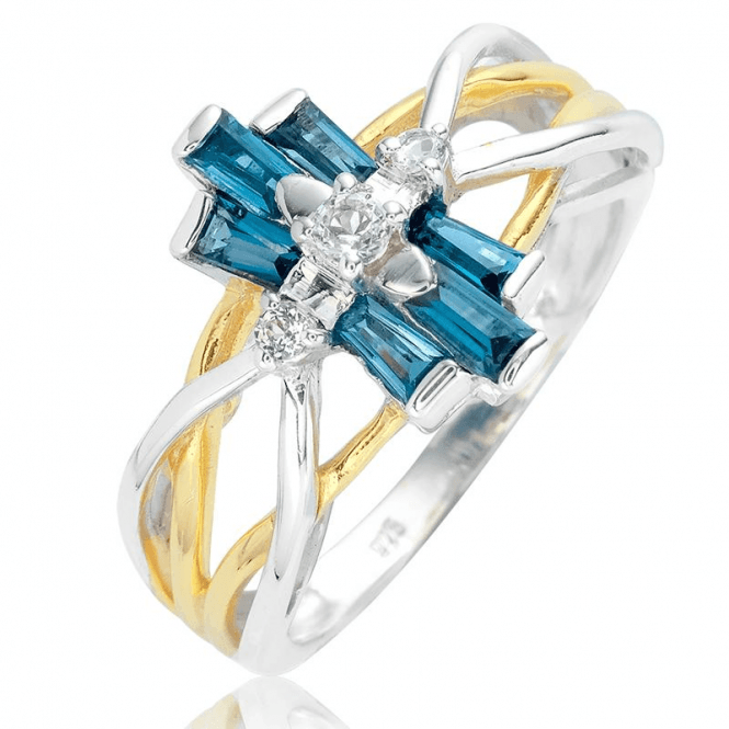 Belle Epoque Ring with Over 1ct of Topaz
