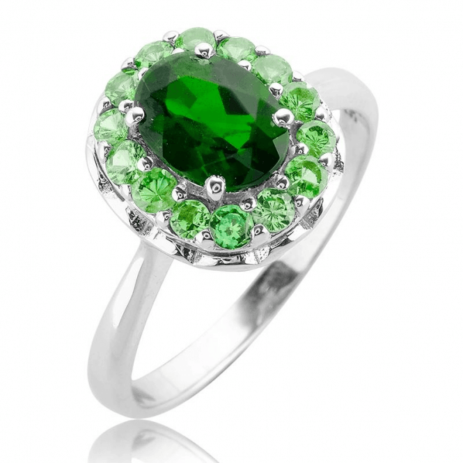 Unusual Green Fusion of Diopside and Tsavorite