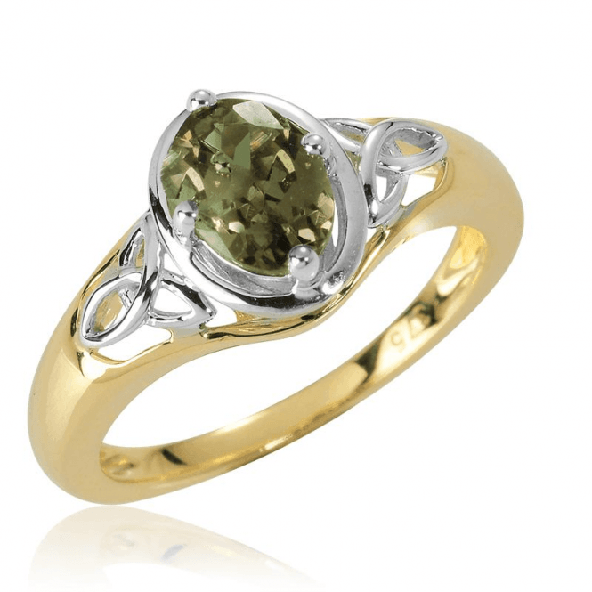 Celtic Earth Ring of Colour-Changing Garnet