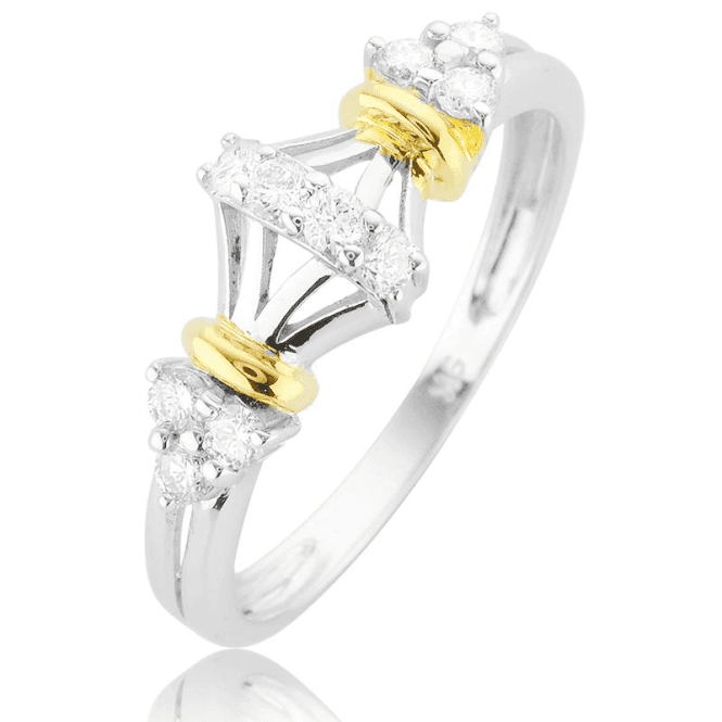 Tsarina 0.33ct Diamond Ring in Geometric 9ct Gold