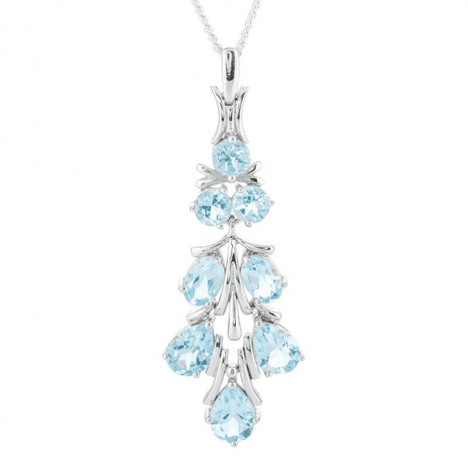 6½cts of Sky Blue Topaz in a Frost of Sterling Silver