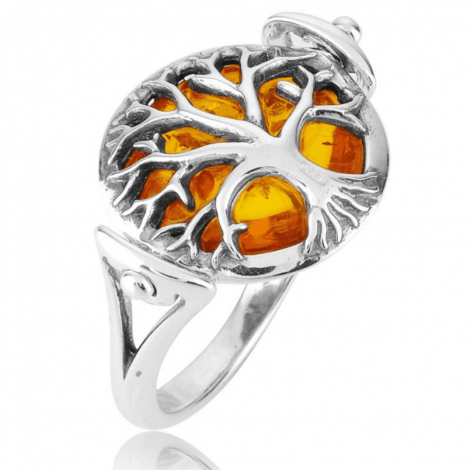 Two Ways to Wear a Cognac Amber Swivel Ring