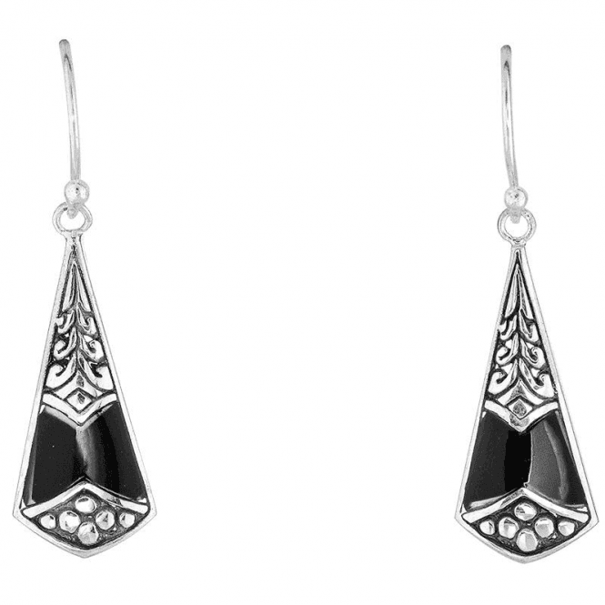 Partytime Earrings in Silver & Onyx