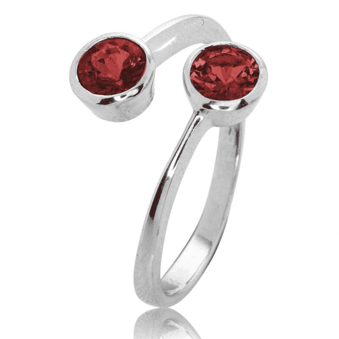 1.2cts Garnet Comfort Fit Ring Celebrates Love & Friendship