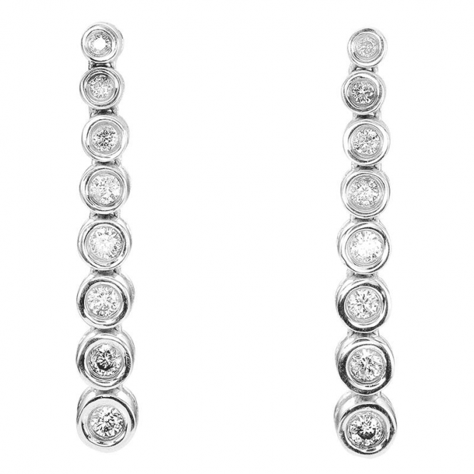 Day to Evening 18ct White Gold Diamond Earrings