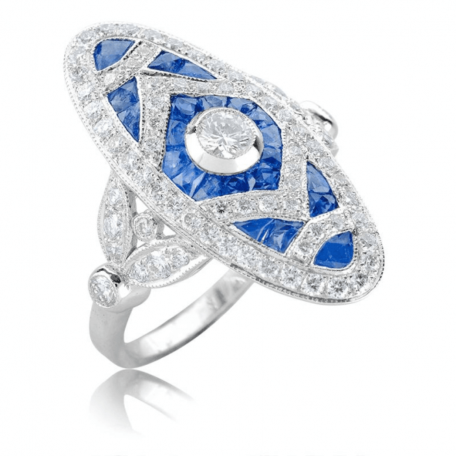 Shipton and Co Sapphire & Diamond Heirloom Ring