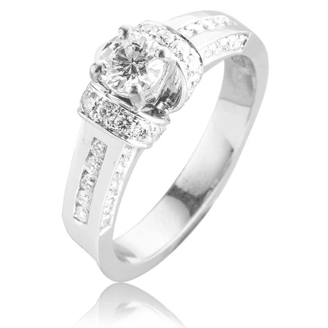 Shipton and Co Over 1ct Diamonds in a 18ct White Gold Setting