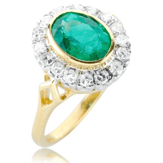 Shipton and Co 18ct Emerald 2.04ct+Di 1097 Rg