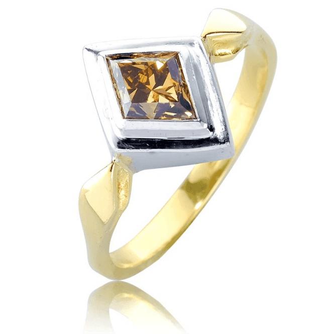 Rare Cognac Diamond Ring