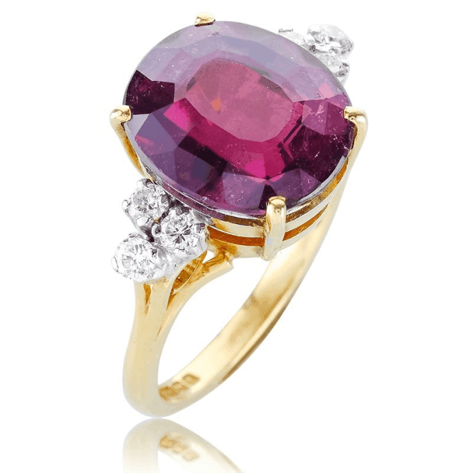 Belle Dame 81/4cts Ring of Rare Rubellite & Diamonds