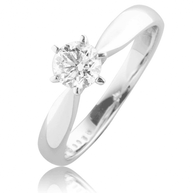 Brilliant Cut Certified Diamond in 18ct White Gold