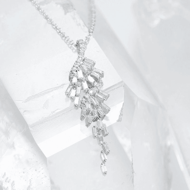 Shipton and Co Baguette Cut Diamond Cascade in 18ct White Gold