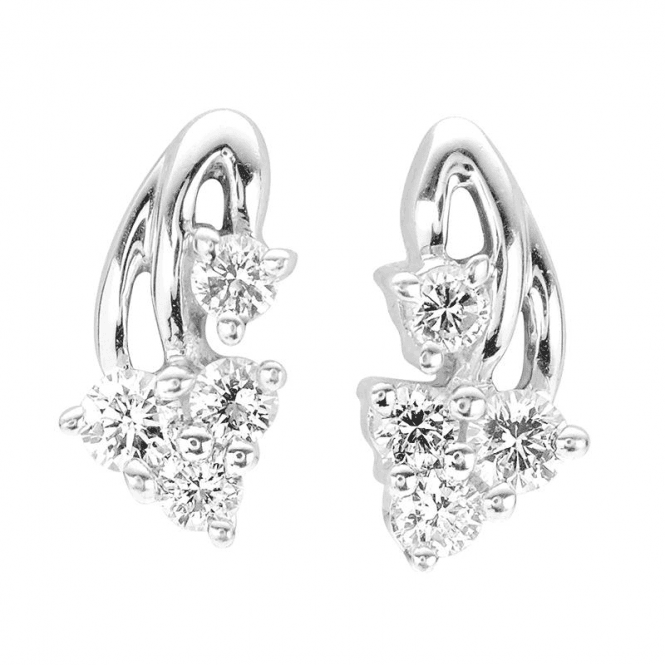 Shipton and Co A Leafy Cascade of Diamond Lit Earrings