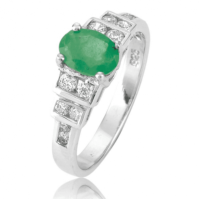 The 1930 Ring ¾ct Emerald Tribute to Art Deco Gardens