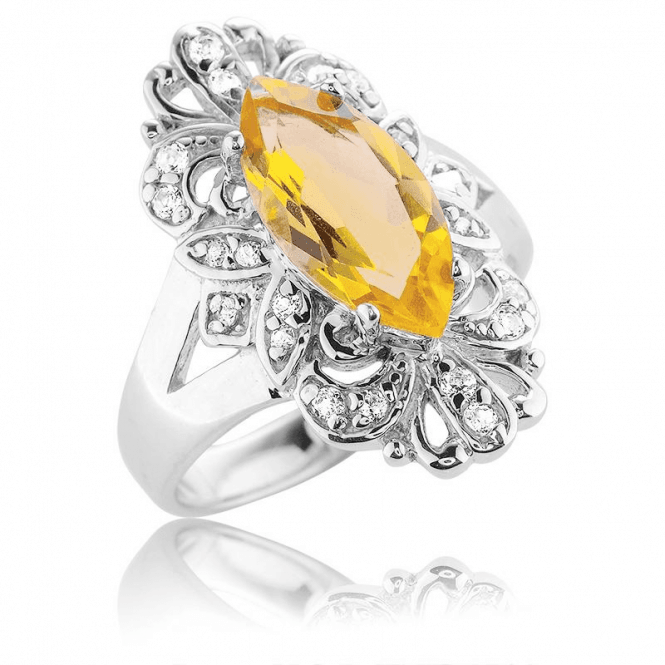 Bright 2ct Citrine after the Victorian Fashion